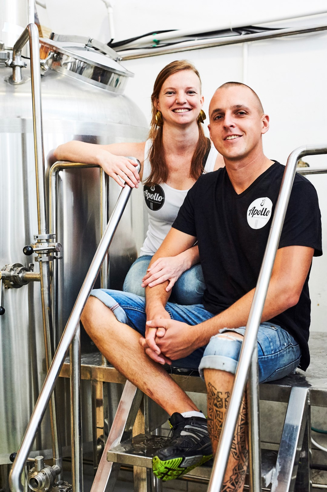 Chris and Nix. Directors of Apollo Brewing Company
